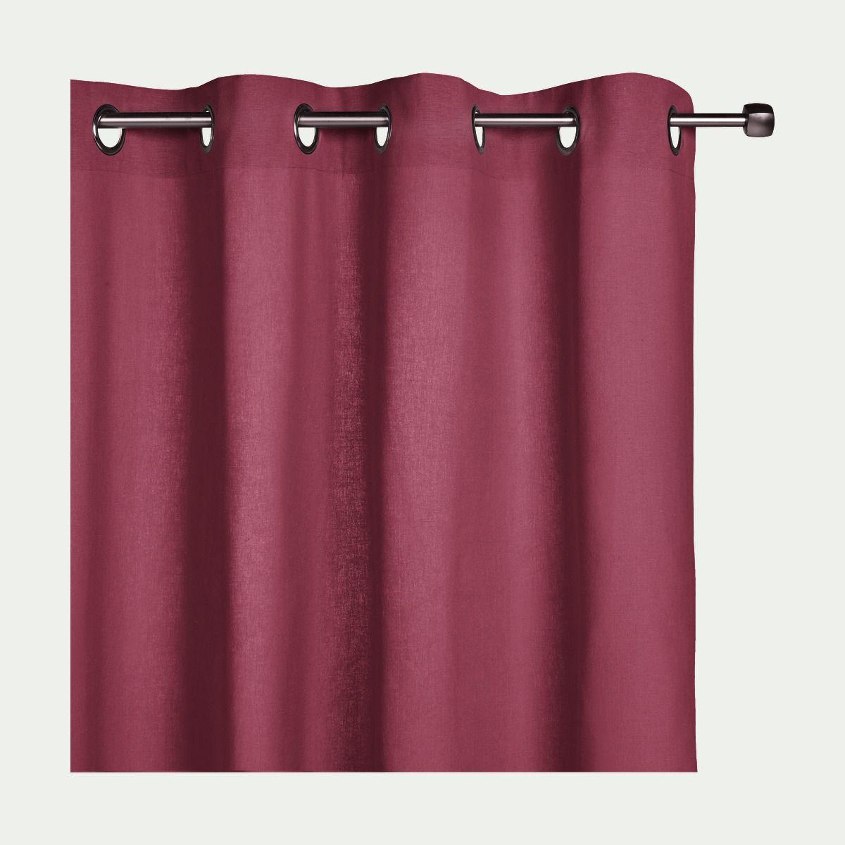Rideau à Oeillets En Coton Rouge Arbouse 140x250cm Alinéa