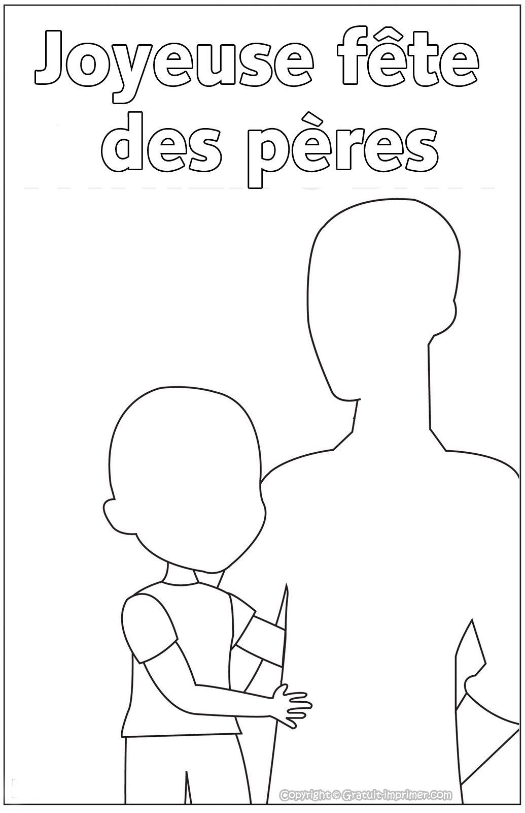 Images à imprimer  Coloriage sur Fête des père   Dia del padre ...