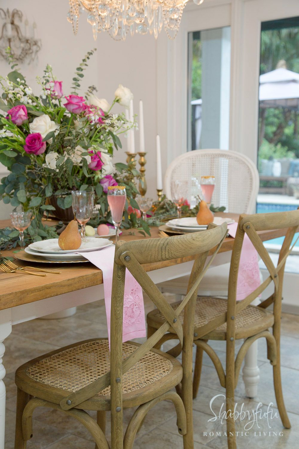 Elegant Table Centerpiece French Country Decorating From Shabbyfufu