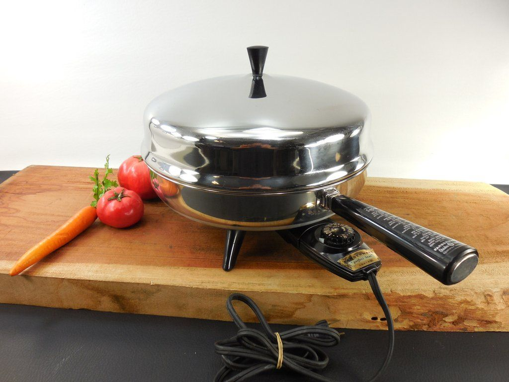 Uncategorized Used Kitchen Appliances sold farberware 12 fry pan electric skillet stainless steel model 310 a dome lid used kitchen appliance