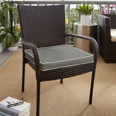 Beachcrest Home Indoor Outdoor Sunbrella Dining Chair Cushion