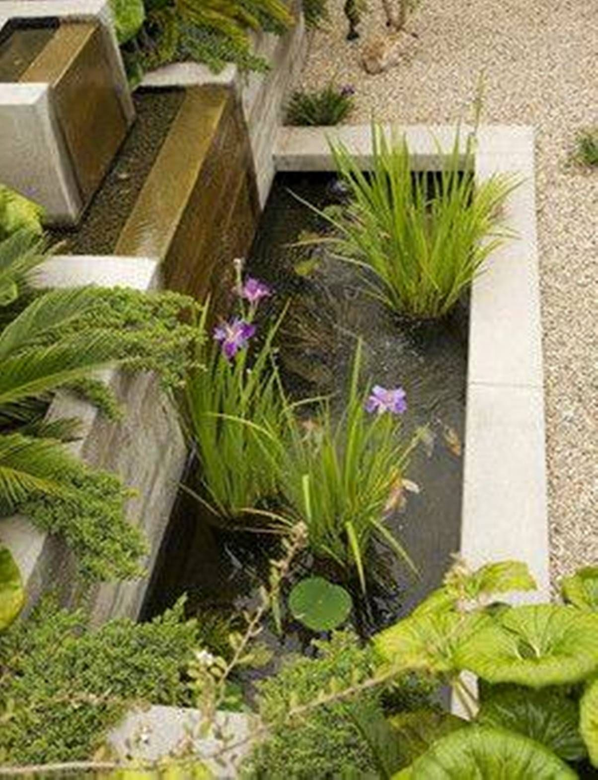 landscaping and outdoor building outdoor small modern ponds rectangular small modern ponds: diy patio pond