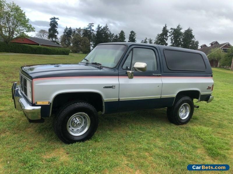 1985 Chevrolet Blazer K5 Blazer Gmc Jimmy Chevrolet Blazer