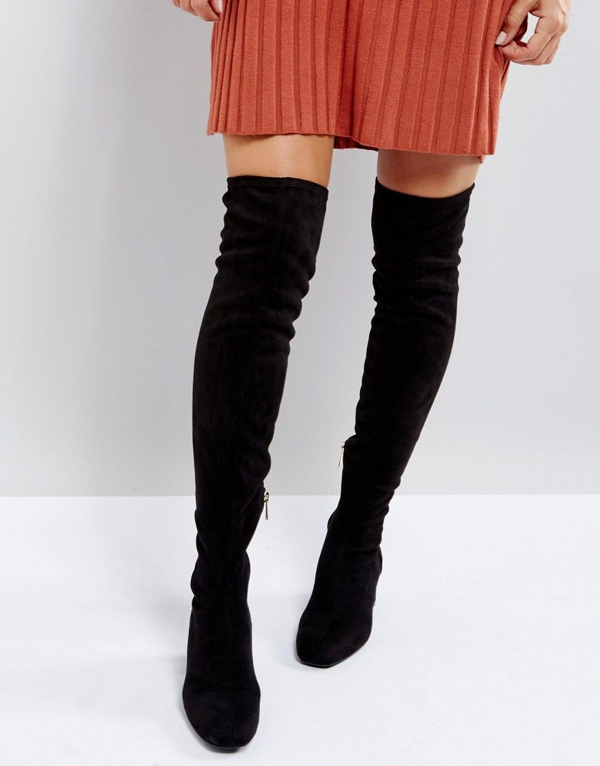 f63958b0deb ... Shoes   Bags for Women. Stradivarius Over The Knee Boot - Black