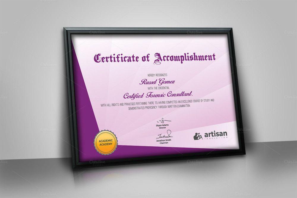 Landscape Size Certificate of Attendance Template Certificate of - printable certificate of attendance