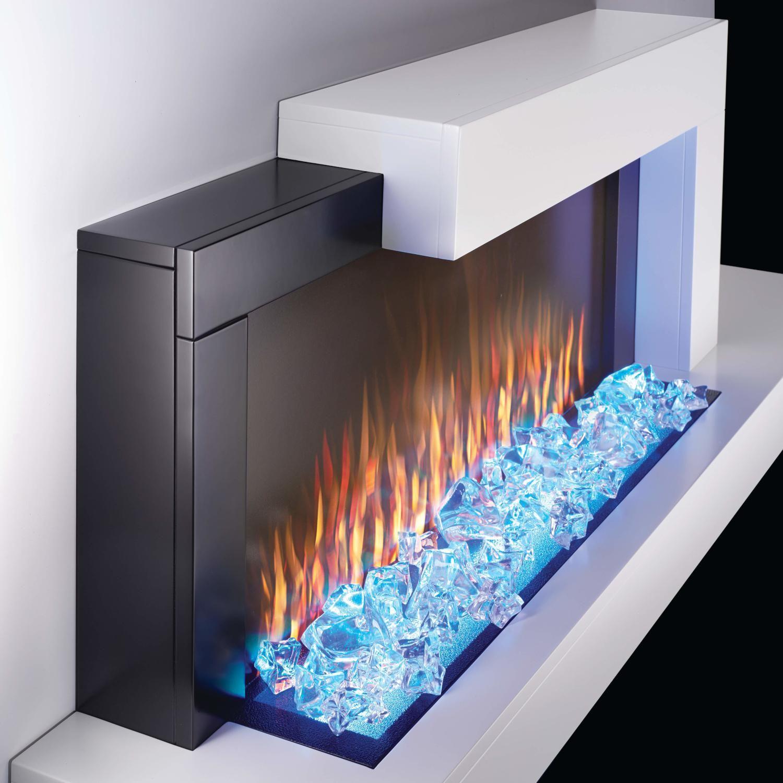 Napoleon Stylus 59 Inch Wall Mount Electric Fireplace With Shelf