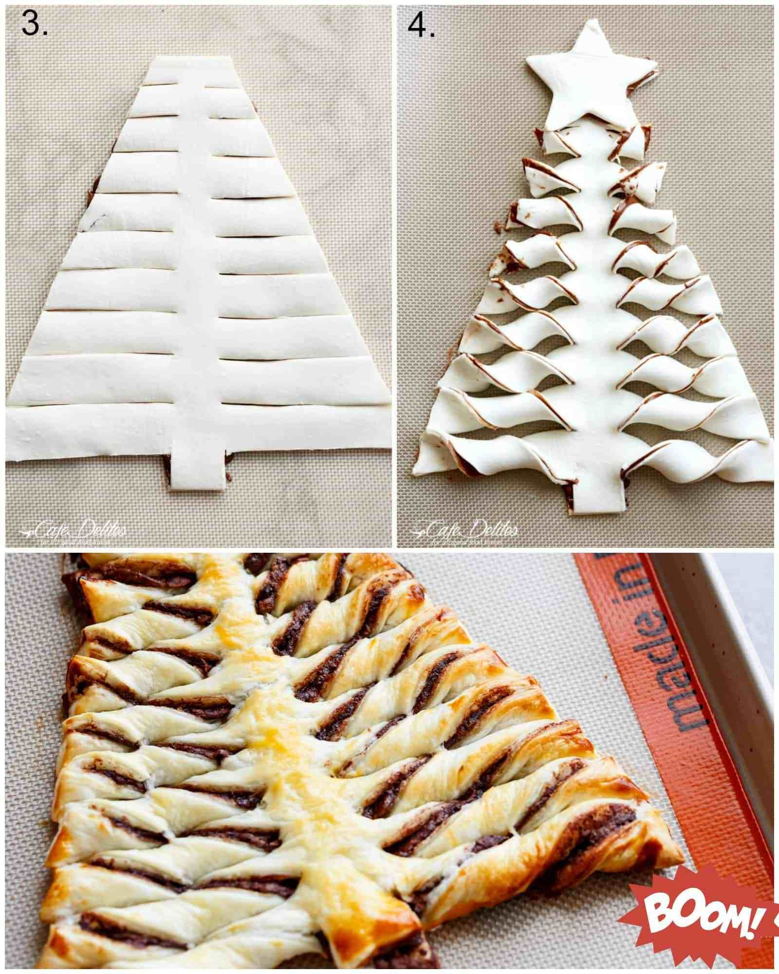 How To Make A Nutella Christmas Tree With Puff Pastry Cafedelites Com Christmas Tree Dessert Recipes Christmas Dessert Table Christmas Cooking