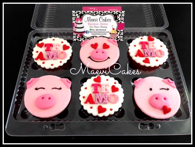Cupcakes pig