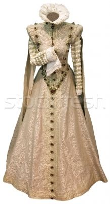 Beige renaissance dress cutout by Suljo.  Reminds me of Snow White for some reason.