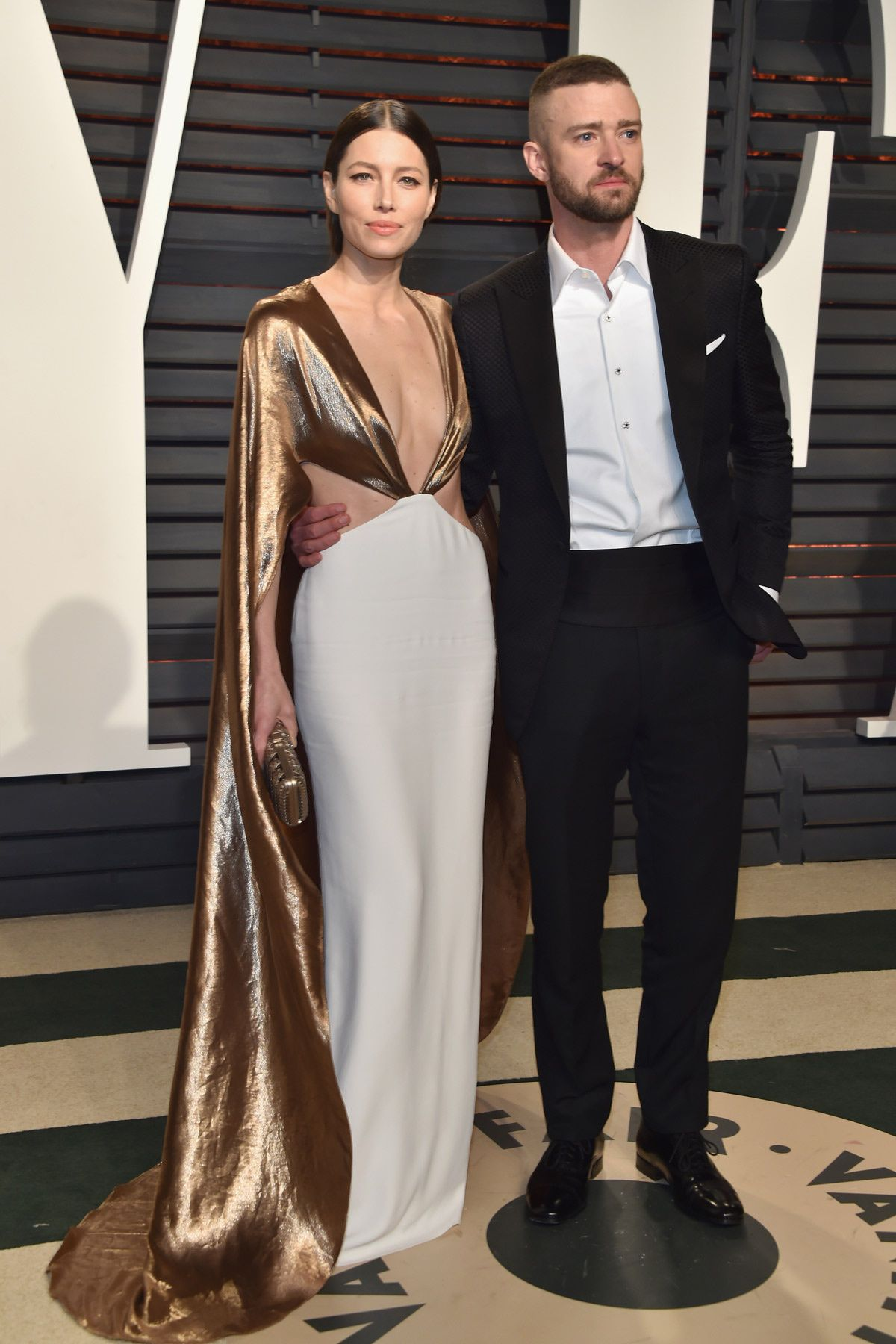 Big love Show from Justin Timberlake Jessica Biel at the Oscars in 2017 behind the back