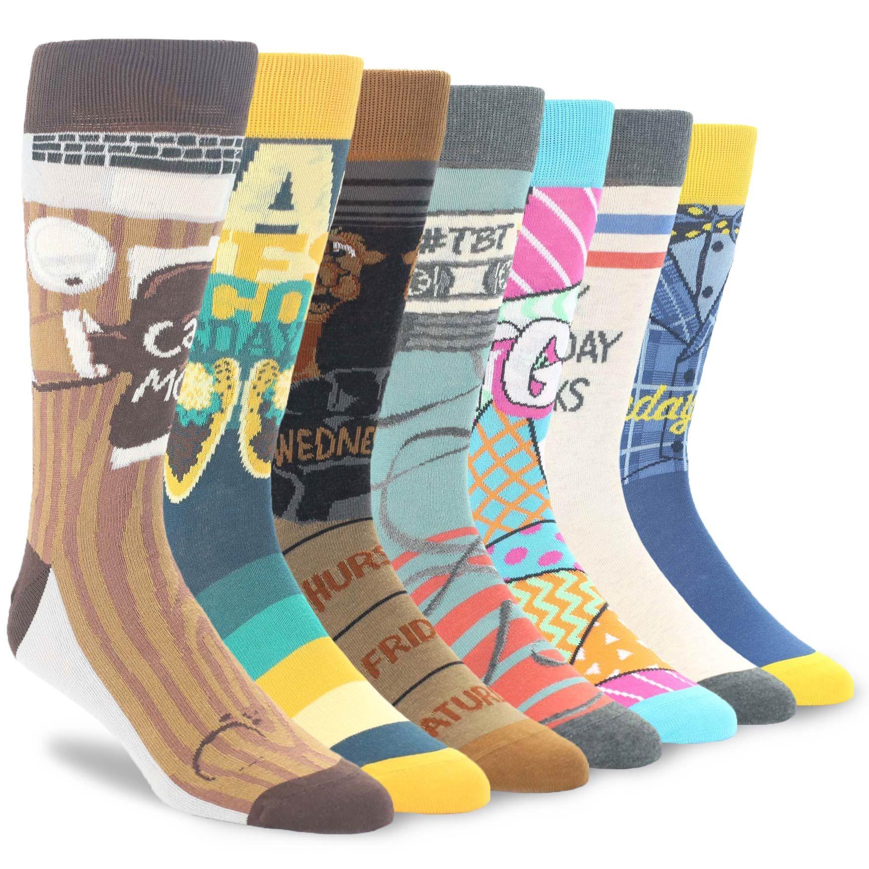 Days Of The Week Socks Days Of The Week Socks Men S Novelty Dress Socks Collection 7
