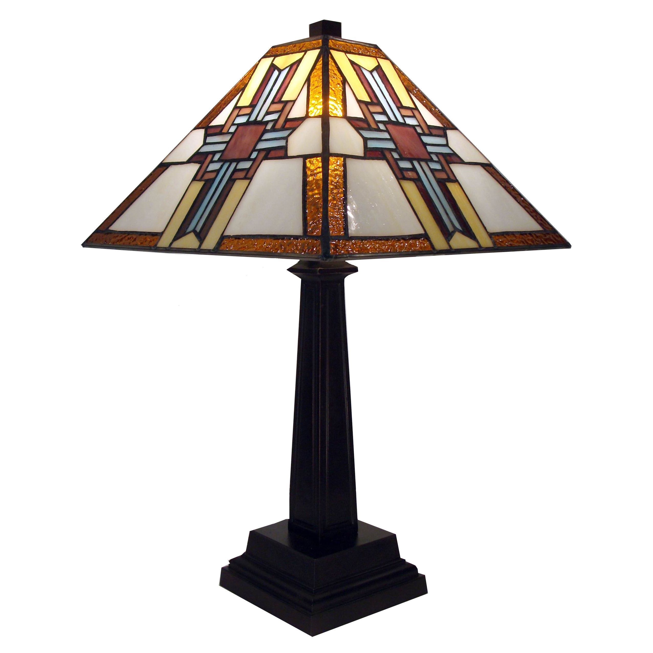 Tiffany Style Warehouse Of Tiffany Cross Table Lamp Brown Art Glass S Izobrazheniyami Lampy Tiffani Torshery Nastennye Svetilniki