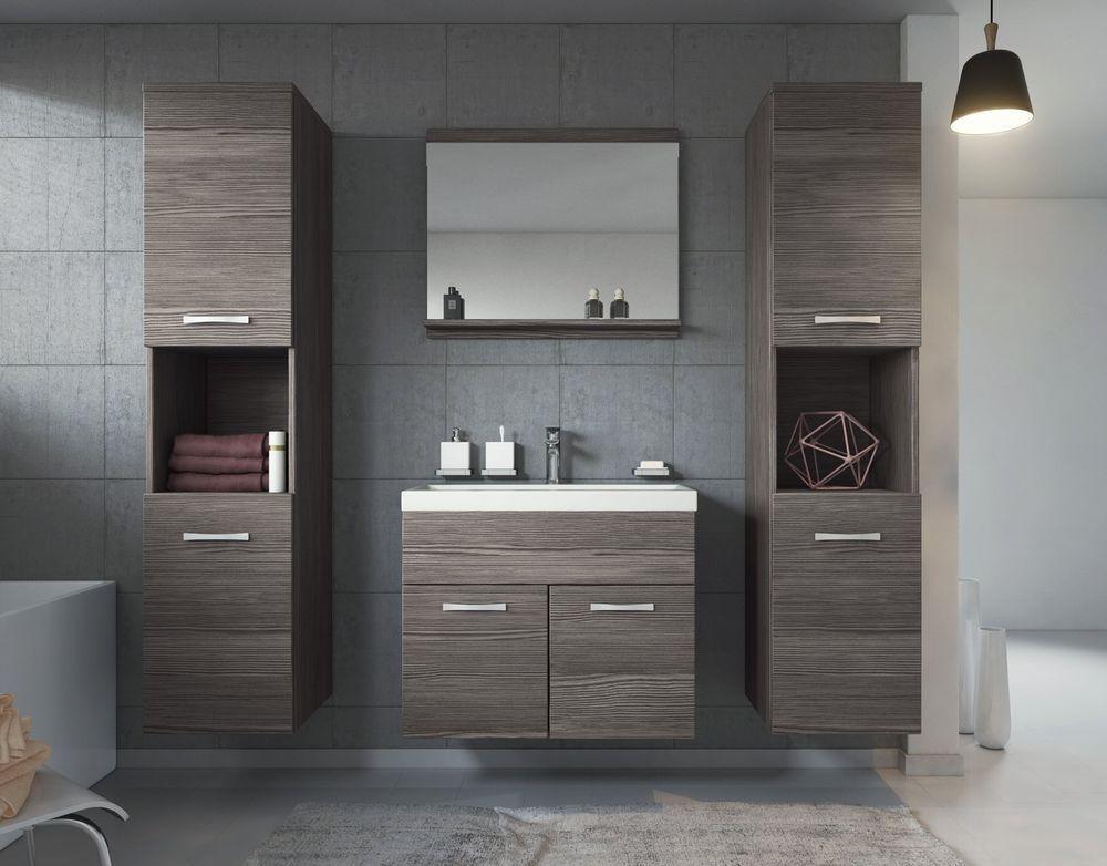 Details zu Badezimmer Badmöbel Montreal XL 60 cm Waschbecken Bodega - badezimmer waschbecken mit unterschrank