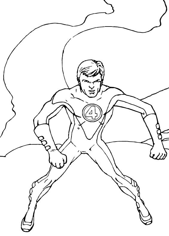 Mr. Fantastic to the rescue coloring page. Coloring page about the ...