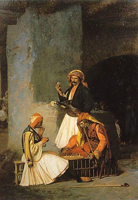 Jean Léon Gérôme: Arnauts playing Chess (1859)