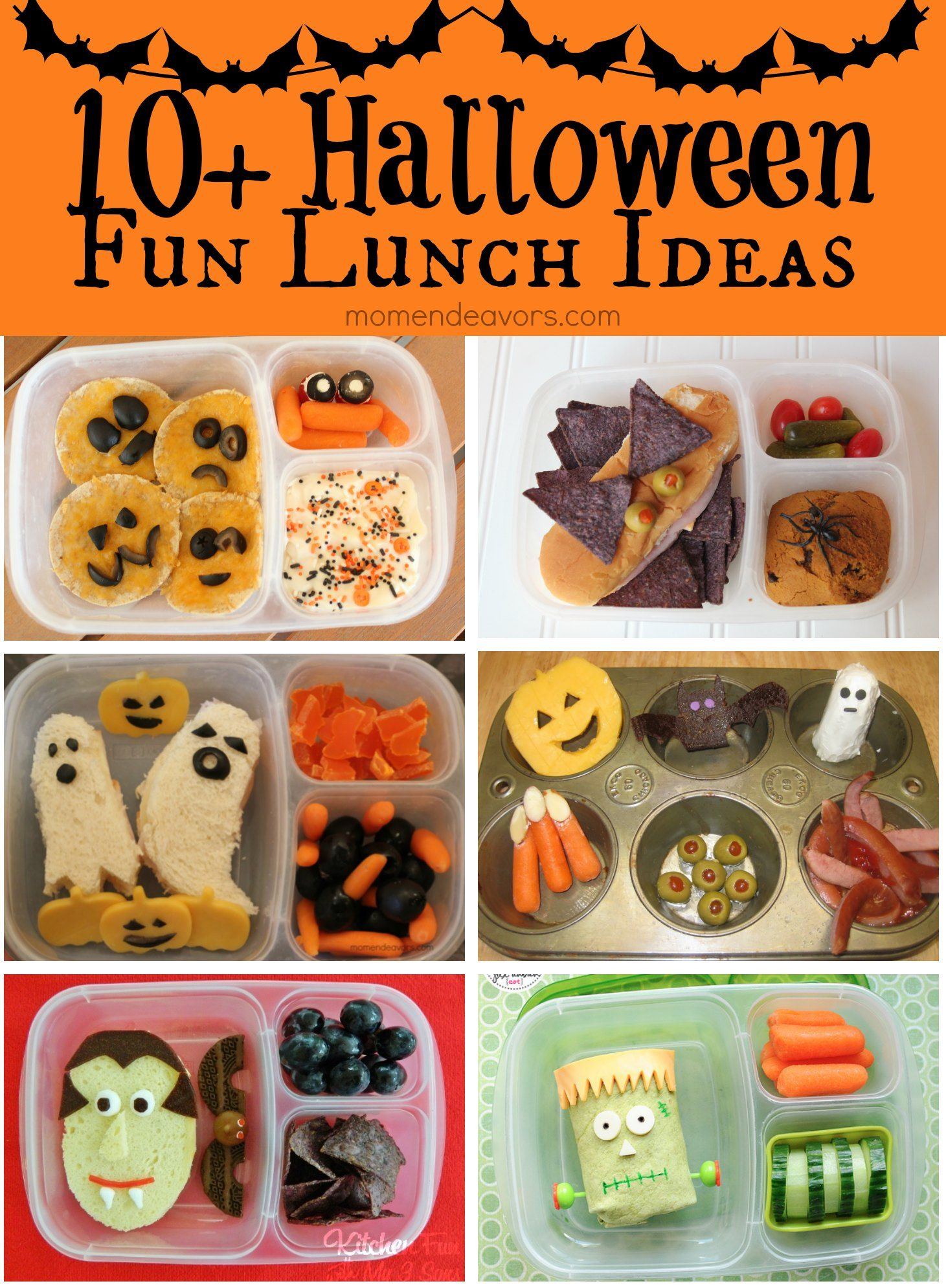 10+ Fun & Easy Halloween Lunch Ideas - Mom Endeavors
