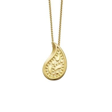 607fbf276 Sheila Fleet 9ct Gold Paisley Pendant - honours the tradition of the  Scottish textile industry and