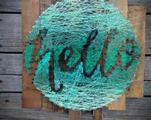 Seahawks string art pattern bing images string art pinterest items similar to hello string art typography in a circle hand lettering mint ombre string nail ready to ship on etsy prinsesfo Gallery