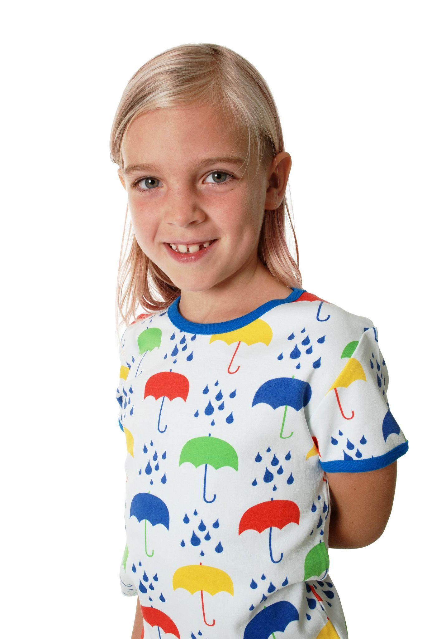 e8e585c5 White Umbrellas Organic Cotton Short Sleeve Shirt. From DUNS Sweden, offered  by Modern Rascals.
