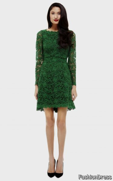 Awesome Valentino Green Lace Dress 2017 2018