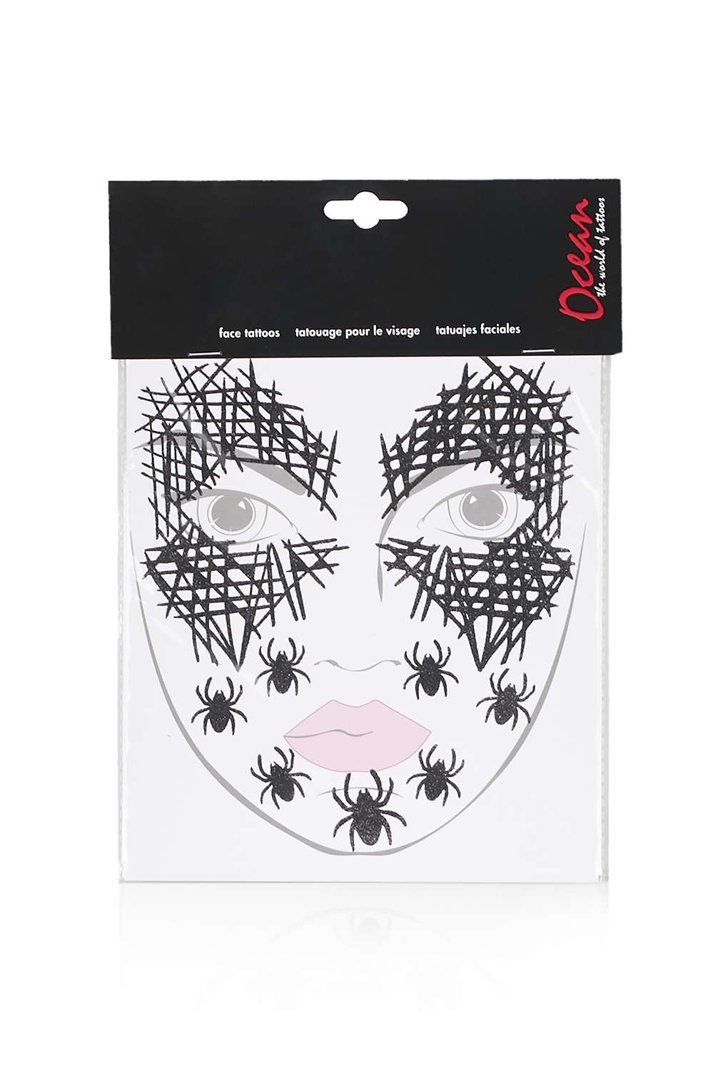 Pin for Later: Get Your Halloween Face On in 5 Minutes Topshop Spider's Web  Face