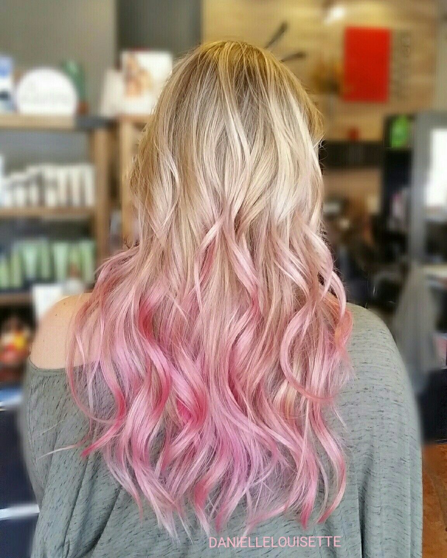 Pastel Pink Ombre Daniellelouisette Fall Hair Colors Pink Blonde Hair Blonde To Pink Ombre