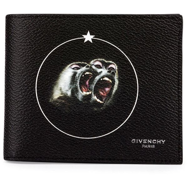 a8455539941d Givenchy Monkey Brothers Bifold Wallet (43430 RSD) ❤ liked on Polyvore  featuring men's fashion, men's bags, men's wallets, black and givenchy mens  wallet