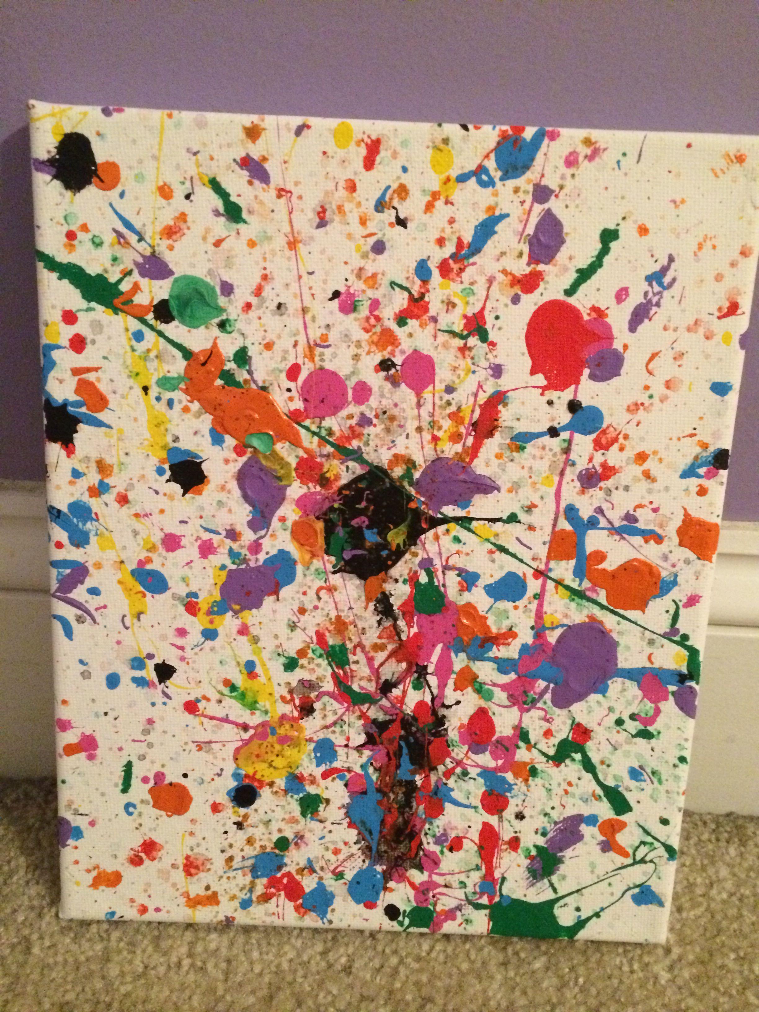 Splatter paint canvas art
