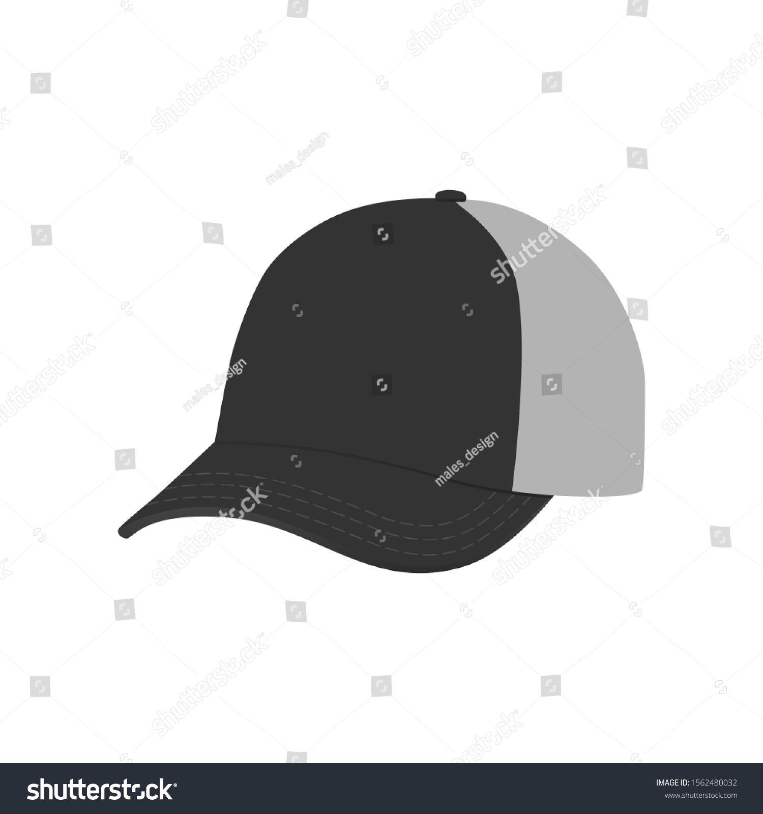 Vector Black Baseball Cap Empty Hat Mockup Headwear Caps In Back Sponsored Sponsored Baseball Cap Vector Black In 2020 With Images Black Baseball Cap Headwear Hats