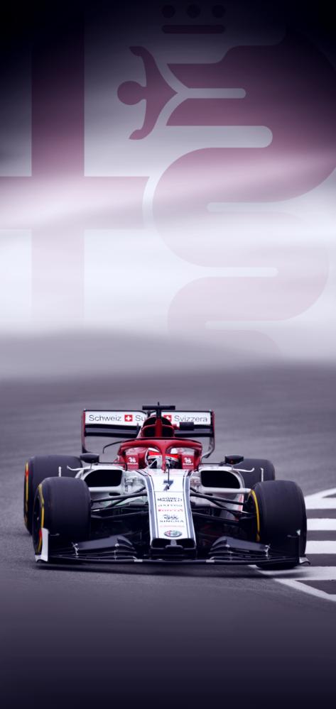 Kimi Räikkönen in the Alfa Romeo C38 [Mobile Wallpaper