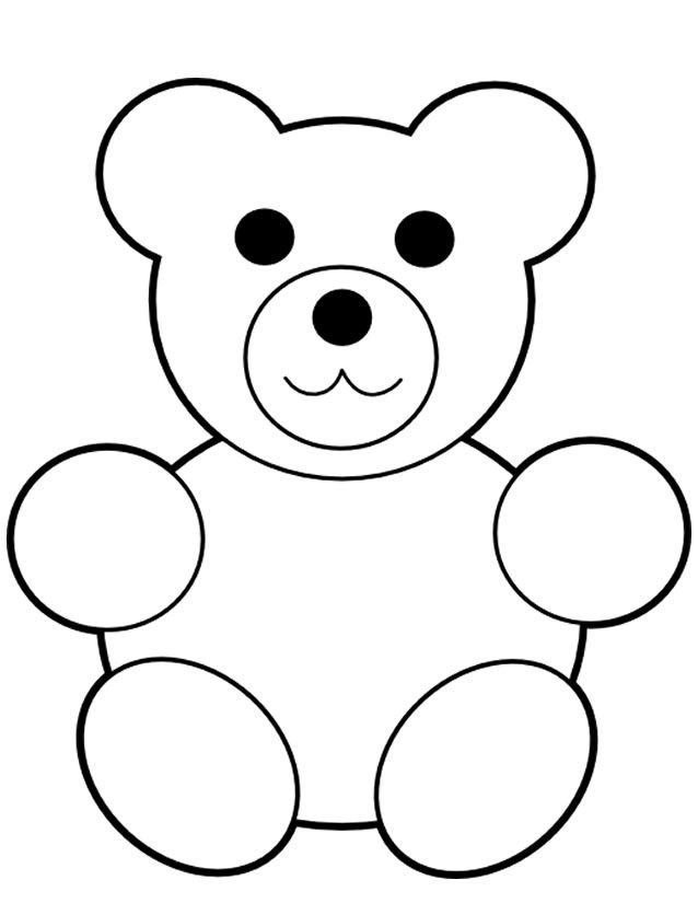 Coloriage Ourson Facile.Coloriage Ourson Coloriage Dessin Teddy Bear Drawing Bear