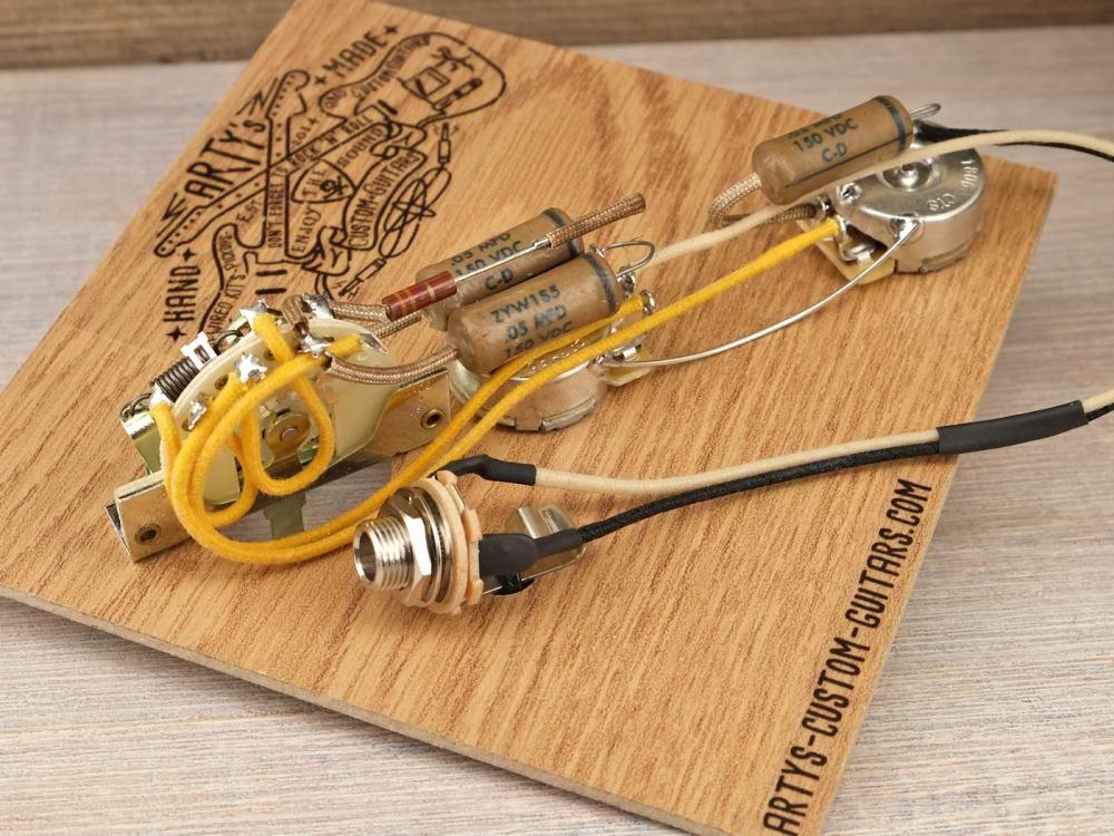 Prewired Kit Esquire Tele Prewired Harness Artys Custom Guitars Com Guitare
