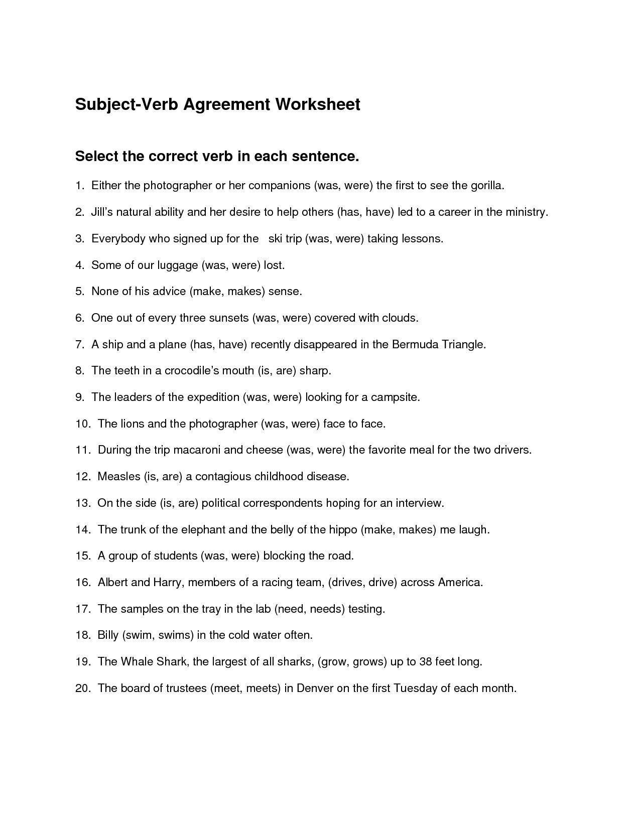 Grammar Worksheet 5th Grade Verb Worksheets 5th Grade Id 0