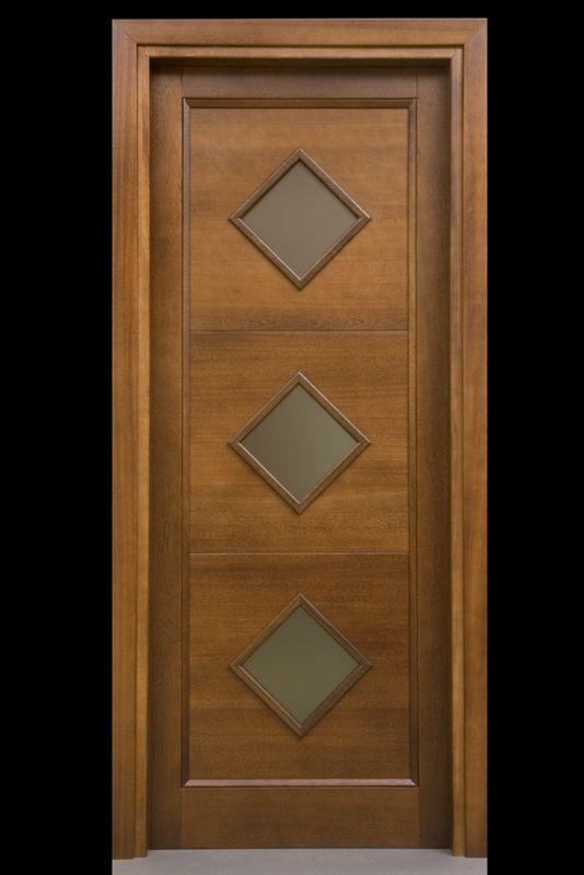 Porta in legno massello Pau Marfin, una bugna, precolorata in tinta ...