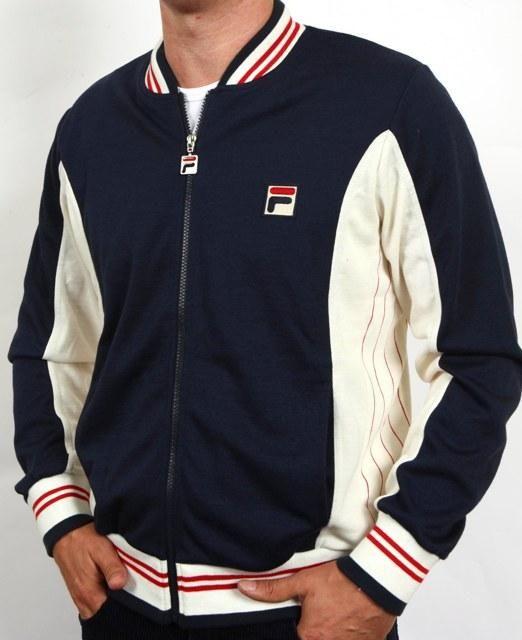 fila jogging suits. fila settanta track top mk1 navy/cream/red ,fila jogging suits a