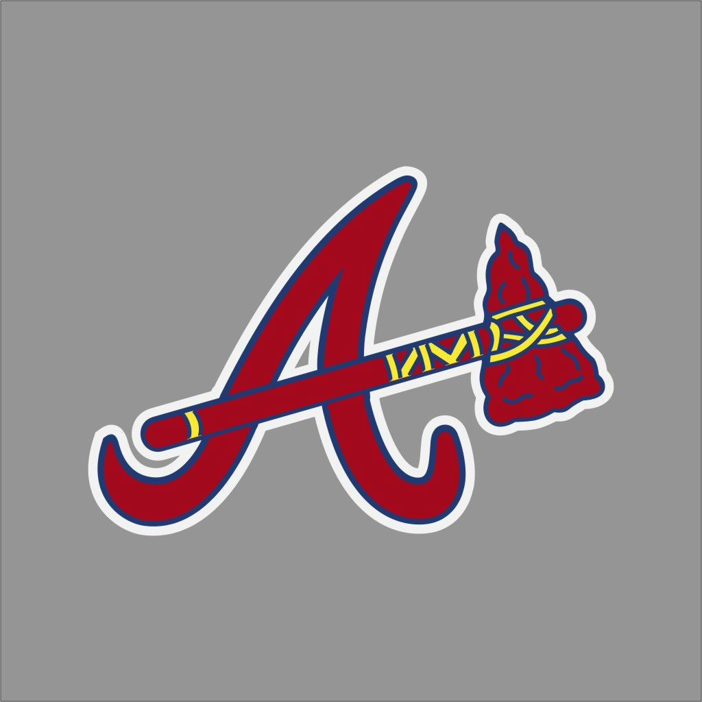 Atlanta Braves 2 Mlb Team Logo Vinyl Decal Sticker Car Window Wall Cornhole Atlanta Braves Atlanta Braves Logo Atlanta Braves Wallpaper
