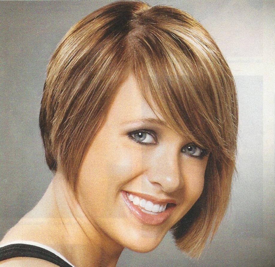Short to medium haircuts front and back cute a line wedge haircut