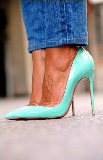 89f50b59bb Christian Louboutin - So Kate - Mint color sexy High Heels - Tacchi Close-Up