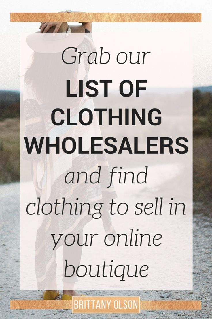 Find Wholesale Boutique Clothing 2018 Free List