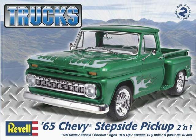 Revell 1965 Chevy Stepside Pickup 7210 1//25 Classic Truck Plastic Model Kit