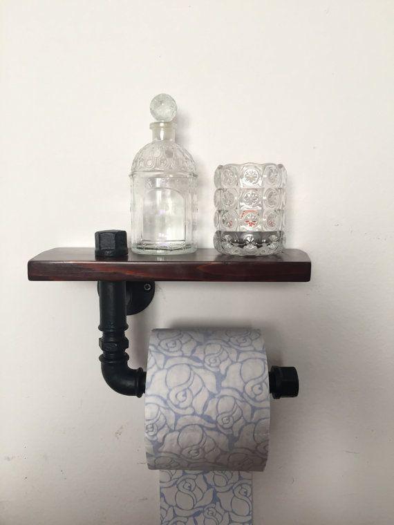 Porta carta igienica in tubo idraulico con di - Porta carta igienica ikea ...