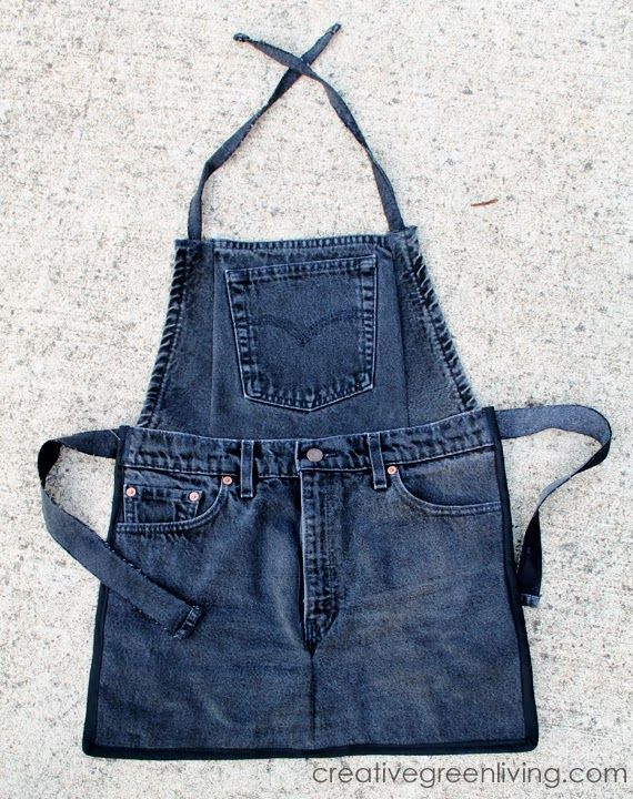 Farm Kid Aprons from Recycled Jeans