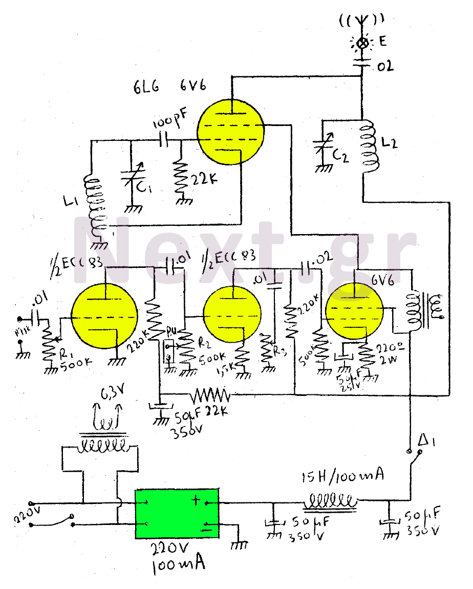 5w Valve Rf Transmitter Circuit Tube Amps Accessories El84 Push Pull Amplifier Schematic Design Concepts