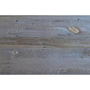 Reborn 1 4 In X 5 In Snow Weathered 100 Reclaimed Wood Wall Paneling 20 Sq Ft Box Hdrwbg145 The Home Depot Wood Panel Walls Reclaimed Wood Wall Wall Paneling