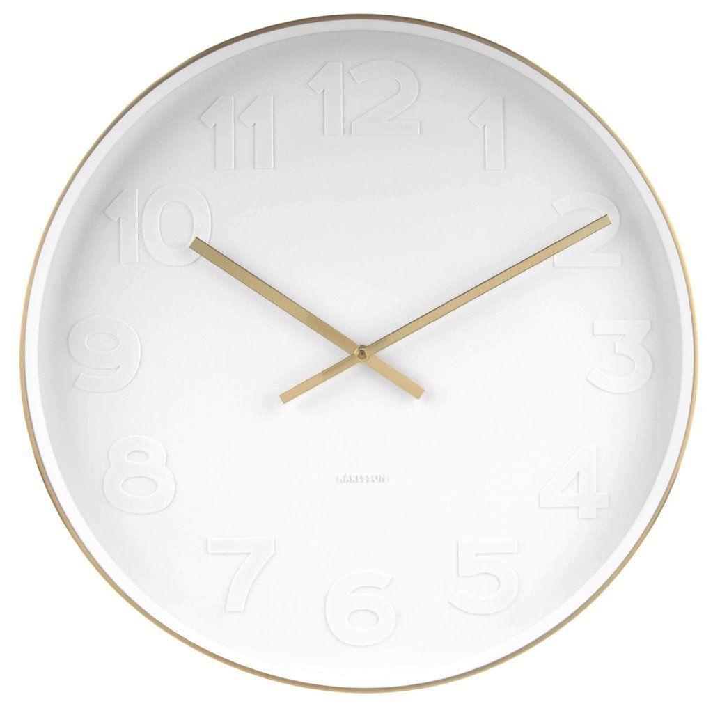 Karlsson Mr White Station Steel Wall Clock Wall Clock Unique Modern Timepiece