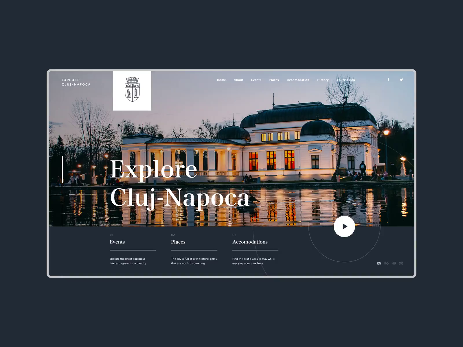 Explore Cluj Website Concept By Barna Erdei In 2020 Events Place Explore Cluj Napoca