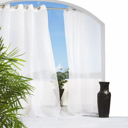 outdoor curtain panel to add a little more privacy on your back patio backyard pinterest. Black Bedroom Furniture Sets. Home Design Ideas