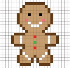 Crochet Gingerbread Man Pixel Square – Repeat Crafter Me – kanaviçe