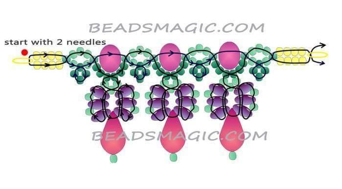 9986072bc819 Patrones para hacer tus collares con abalorios