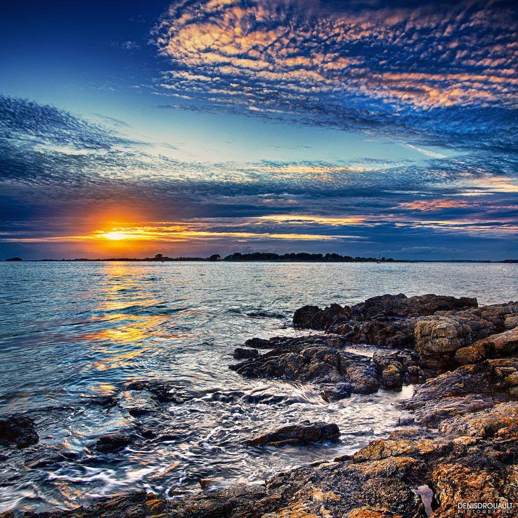 | Port Navalo - #02 | Coucher de soleil sur l'entrée du Golfe à Port Navalo - Le Golfe du Morbihan - Bretagne France.